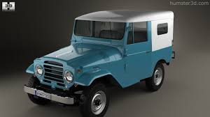 360 view of Toyota Land Cruiser (J20) softtop 1958 3D model ...