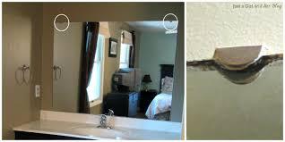 Diy Bathroom Mirror Diy Framed Mirror