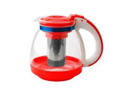 <b>Чайник заварочный</b> Gelberk GLK-817 <b>стеклянный</b> красный <b>1500</b> мл