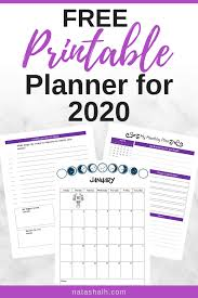 Free Planner Printables For Your Best Year 2020 2019 The