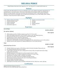 example of a written cv application nanny cv template cv samples examples