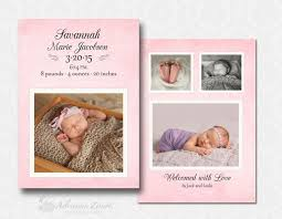 Baby Girl Birth Announcements Template Free Free Birth Announcement Templates For Photoshop