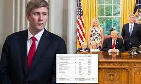Trump's 36-year-old former shoo-in for chief of staff earned up to $54  million as consultant | Daily Mail Online