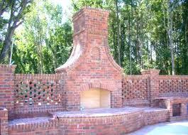 examples of beautiful outdoor brick fireplace ideas masonry stone designs