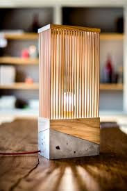 Wood And Concrete Table Lamp Lamps Lighting Ideas Wooden Table