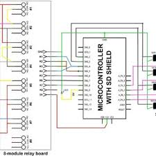 wiring diagram to connect four capacitance sensors and a 5 v direct wiring diagram to connect four capacitance sensors and a 5 v