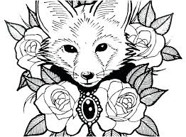 pretty coloring pages. Perfect Pages Pretty Coloring Pages Sheets Life Color Animals Picture Cute Fox With N16 Inside Pretty Coloring Pages F