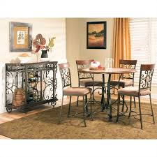 steve silver thompson 5 piece counter dining table set in cherry
