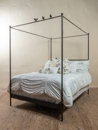 Bird on Wire Wrought Iron Canopy Bed