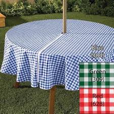 zippered umbrella vinyl tablecloth 3 colors 70 inches round patio outdoor new