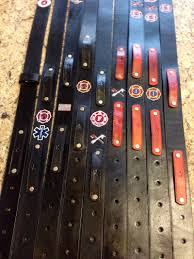custom leather radio straps mic clips