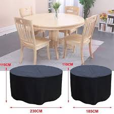 round waterproof outdoor garden patio table chair set furniture cover large