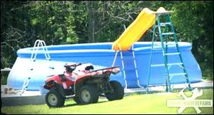 homemade above ground pool slide. Diy In Ground Pool Also Slide Redneck Build Your Own Above Pump Cover Homemade