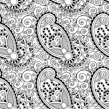 Free Printable Adult Colouring Page Paisley