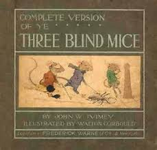 three blind mice rhyme book ilrations fairy tales nursery rhymes rats book jacket book cover art fairytale