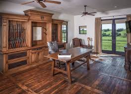wood home office. Rustic Home Office With Wooden Floor, Cream Wall, Big Shelves, Table Wood A