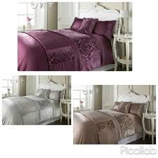 details about new luxury soft dallas damask wonderful 5pc velvet duvet set in a bag doube king