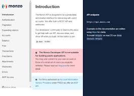 Premier Lotto Classification Chart Monzo Api Overview Documentation Alternatives Rapidapi