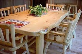 rustic dining room tables and chairs. Cedar Table And Chairs - Image Rustic Dining Room Tables P