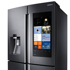 samsung tv refrigerator. samsung family hub refrigerator now available with wi-fi, touchscreen, and more tv