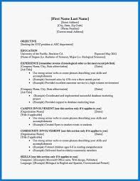 First Resume Template Admirably 14 First Resume Templates Pdf Doc