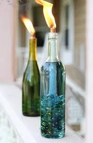 wine bottle lighting. Citronella Tiki Lamps Wine Bottle Lighting