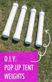 diy tent weights for ez up canopy style tents