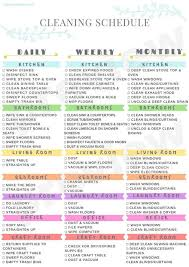 Printable Cleaning Schedule Cleaning Schedule Printable House Cleaning Schedule Cleaning Calendar Cleaning Checklist Printable Cleaning