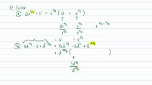 interate algebra rational exponents factoring distributing expressions