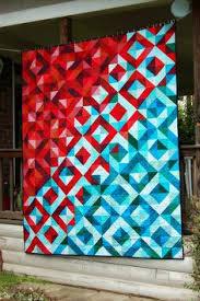 This is beautiful! Lava Meets Sea half square triangle quilt ... & Lava Meets Sea half square triangle quilt Tutorial. I love this Adamdwight.com