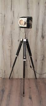 Black Stand Camera Light Tripod Vintage Retro Floor Lamp Vinterior