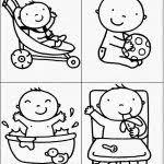 Kleurplaat Baby Geboren