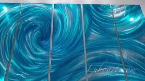 turquoise art painting aluminum wall decor sculpture 3d effect hand made by lubo naydenov on water wall art youtube with turquoise art painting aluminum wall decor sculpture 3d effect hand