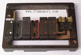 wylex standard way fusebox brown wooden frame partially assembled brown wylex fuse box