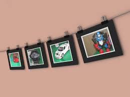 how to hang a string of pictures on a wall 13 steps