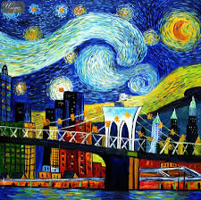 vincent van gogh homage new york starry night special edition oil painting oil paintings reions vincent van gogh 41847