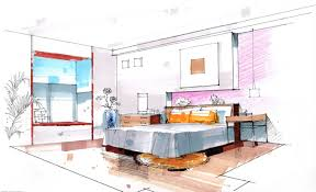 interior design bedroom drawings. Lovely Drawing Of Interior Design 26 Bedroom Sketches 02 . Drawings R