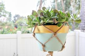 diy macramé hanging plant holders