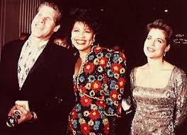 Ron Perlman with his wife, Opal and co-star Linda Hamilton