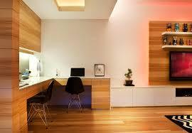 wood panel study interior design ideas