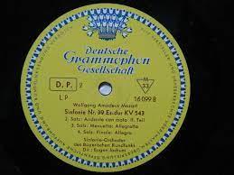 Deutsche Grammophon Vinyl LP Wolfgang Amadeus Mozart Sinfonie Nr. 39  Es-dur aus dem eBay.de Preisvergleich bei E-Pard