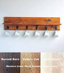 reclaimed wood mug rack urban rustic. Coffee Mug Rack - Cup Holder Storage Reclaimed Wood Urban Rustic O