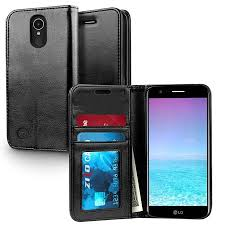 LG K20 Plus Case, ZV Wallet Case - Magnetic Flap Pouch w/ Slimfit TPU All-In-One Cover Credit Card And ID Holder Protective Harmony