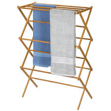 Household Essentials Bamboo Folding Clothes Drying Rack