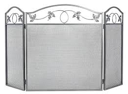 fireplace screens 3 panel large fireplace screen doors and screens fire place cover baby proof safety fireplace screens