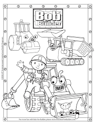 Small Picture Bob The Builder Coloring Pages Ppinewsco
