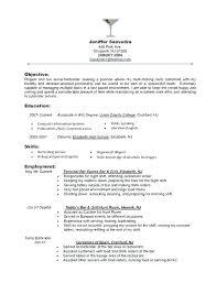 Descriptions For Resumes Server Resume Duties Example Server Resumes