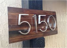 Wood Address Signs Outdoor Decor Strikingly Design 60 House Number Plaque Modern Reclaimed Wood Home 49