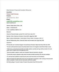 Real Estate Resumes Custom Real Estate Financial Analyst Resume 48 Financial Analyst Resume