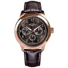 rotary watches automatic mechanical quartz h samuel rotary men s grey dial brown leather strap watch product number 4606868